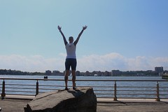 On Top of the Rock (alexandriacasella) Tags: rock chelseapiers water nycphotography