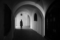 (cherco) Tags: walk woman window walking blackandwhite blancoynegro silhouette silueta solitario solitary light luz shadow street shadows lonely solitaria arch arco composition composicion canon 5d canoneos5diii alone sombra sombras repetition city ciudad