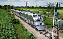 Nebraska Zephyr in the Heartland (jterry618) Tags: union illinois illinoisrailwaymuseum nebraskazephyr streamliner diesellocomotive railroad train engine