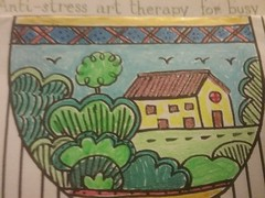 Colour and movement (Oh.Great!) Tags: 3652017 macromondays relaxation teacup colours antistressarttherapyforbusypeople gelpens house trees
