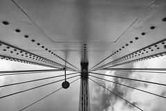 Kölner Ansichten IV (Schermannski) Tags: monochrome schwarzweiss blackwhite blackandwhite architektur architecture brücke bridge