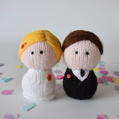 Bride and Groom (Knitting patterns by Amanda Berry) Tags: bride groom doll dolls wedding marriage gifts present topper cake bridal weddings amanda berry fluff fuzz knitting knits knitted knitter knitters handmade hand crafts crafting crafters makers maker making design pattern patterns ravelry