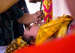 Teenage girl during the rite of passage tooth filing ceremony, Bali island, Canggu, Indonesia (Eric Lafforgue) Tags: anxiety asia asian bali bali2527 balinese beliefs canggu ceremony clothing colorimage customs dentist dress file filing headwear hindu hinduism horizontal incisor indigenouspeople indonesia indonesian indonesianculture manusa mesangih pain painful painfully realpeople rite riteofpassage rites ritual spiritual teeth tooth tradition traditional traveldestination baliisland