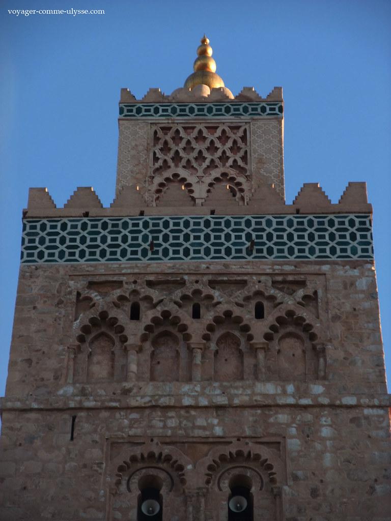 Décors du Minaret, en formes géométriques