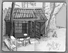 eightysix (mastarto) Tags: house moleskine forest fire heat nights rest pastime mastarto campmedik