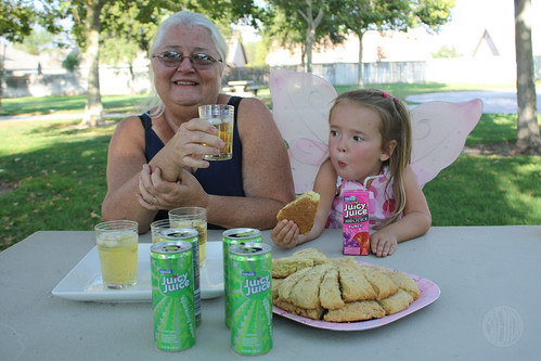 Grandma Sugar and Bug partake
