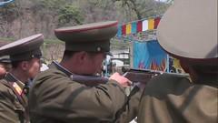 North Korean soldiers in Pyongyang fun fair - North Korea (Eric Lafforgue) Tags: soldier war asia gun korea fete asie coree guerre funfair soldat northkorea dprk coreadelnorte april25 fusil nordkorea    coreadelnord   insidenorthkorea  rpdc  kimjongun coreiadonorte