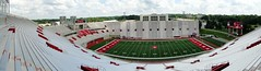 Large Panorama of IU Memorial Stadium (W9NED) Tags: summer cloud color sport america memorial midwest university indiana sunny southernindiana monroe northamerica bloomington indianauniversity iu dschx1