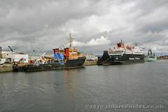 IMG_6217adj (md93) Tags: cruise clyde greenock ships calmac cunard queenvictoria jwd clansman norna jameswattdock sdwarden