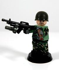 """Charlie Don't Surf"" (~Entropy~) Tags: weed kill lego cigar vietnam pot camouflage apocalypsenow blunt m16 nam m203 blackops hamburgerhill callofduty cong savingprivateryan weweresoldiers brickarms m1pothelmet"
