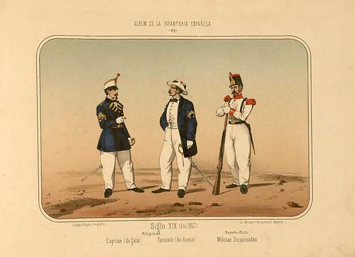 016- Álbum de la Infantería Española..-1861- conde de Clonard