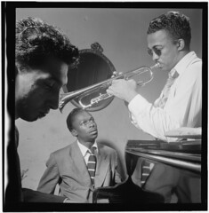 [Portrait of Howard McGhee and Miles Davis, Ne...
