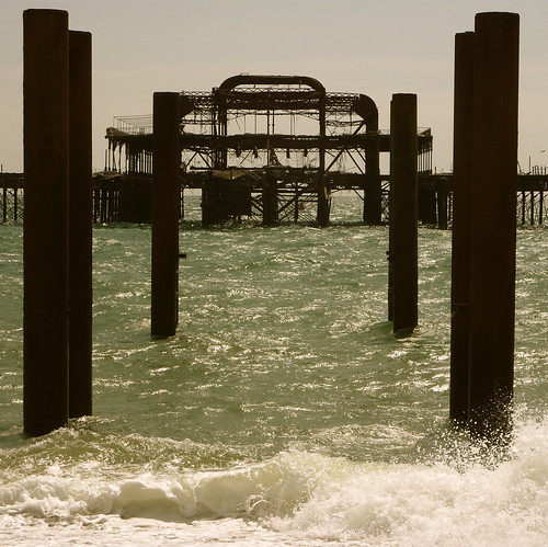 Skeleton of West Pier
