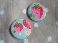 Strawberries (Lilies and Daisies) Tags: magnets badges compactmirrors