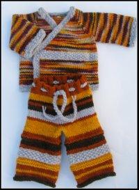 Autumn Fields Silly Stripes™ Layette