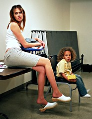 Elana and Son Waiting for a Machine 1 (neohypofilms) Tags: family light baby white color cute slr love film girl 35mm hair children fun chair women shoes child basket pants legs sweet candid 28mm son clothes negative curly laundry tiny barefoot clogs ambient series casual heel shorts tall conceptual seated youngster mules dangle washers washing slippers dryers drying perforated comfy pentex dangeling