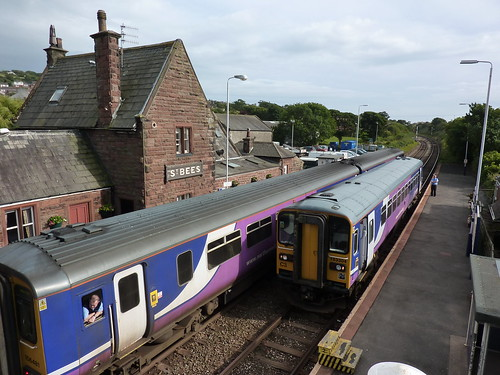 Arriving at St Bees Railway Station