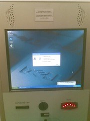 Cashless vending machine in the canteen at work obviously needed a reboot but didn't manage to start up again (tom.betts) Tags: bluescreenofdeath vendingmachine bsod