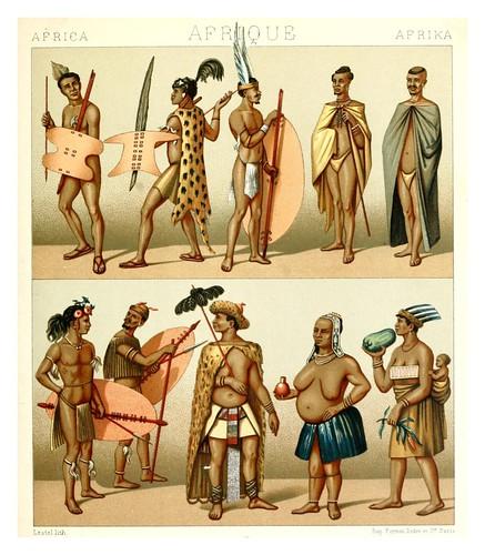 015-Africa-Cafres -Geschichte des kostüms in chronologischer entwicklung 1888- A. Racinets