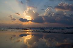 Bliss (sjones9563) Tags: light reflection beach water clouds sunrise rays sunskyclouds lookoutforpirates