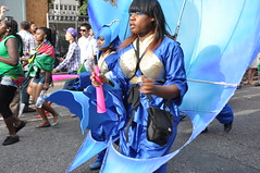 DSC_0440 (AngelasTravels) Tags: show costumes england people music london beautiful children freedom community women colours message dancing skin body traditions parade cameras displays caribbean nottinghillcarnival floats peoplewatching opportunities extrovert photoshots