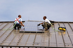 installation of solar panels, Fort Dix (by: US Army Environmental Command)