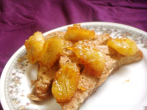 Fluffy French Toast with Caramelised Bananas