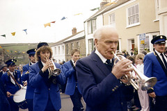 Helston Flora Dance (Liffonmelsmork) Tags: road street england furry cornwall parade celebration tradition mayday instruments 1980s brass floraday helston cornets floradance helstontownband helstonfloradance