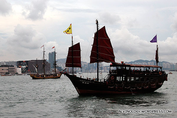 Spotted a Chinese junk ship