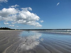 The Day after Earl! (birds eye viewer) Tags: ocean home clouds reflections novascotia beaches atlanticocean sableriver
