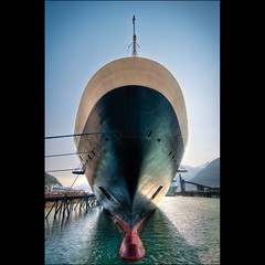 How'd I shoot this photo? First I took a bow. (*trevj (eyemeetsworld.com)) Tags: travel tourism alaska port harbor harbour skagway cruiseship lynncanal hollandamericacruiselines eyemeetsworldcom eyemeetsworldphotography