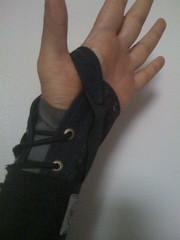 brace in my hand