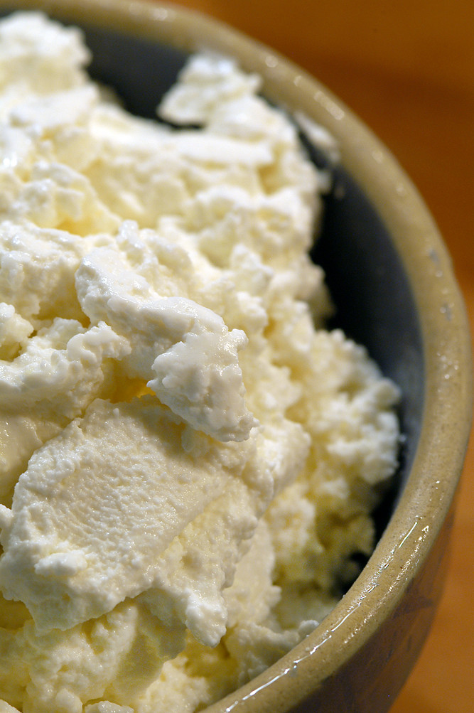 Bowl of ricotta
