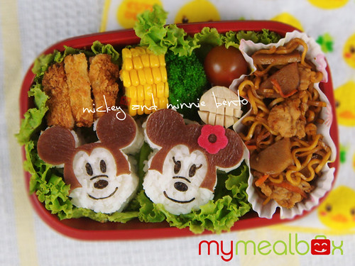 MIckey and Minnie bento