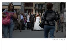 ‧ married in lucerne ‧ (Toni_V) Tags: street people schweiz switzerland suisse luzern marriage lucerne hochzeit 100904 2010 d300 5018 flickraward dsc3975 ©toniv