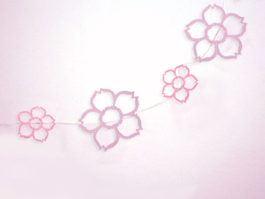 I do it yourself diy project paper sakura garland diy paper sakura garland solutioingenieria Images