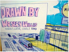Wesley Willis: Roosevelt, Clinton, and Canal, 1990: Sig Detail (danxoneil) Tags: wesleywillis