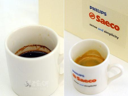 不同咖啡機所沖泡出的espresso