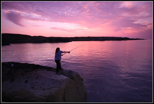 rock fishing in wester ross.