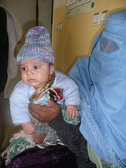 A mother and child at CURE Kabul Hospital
