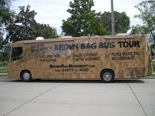 Scott Walker's Brown Bag Bus