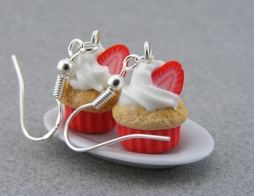 Strawberry Cupcake Earrings