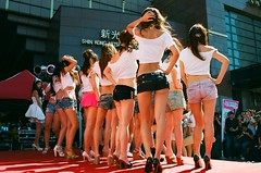 Beauty Contestants (Shanghai Sky) Tags: color film taiwan 13