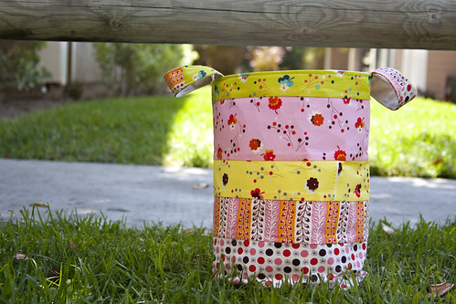Fabric Bucket - Tutorial coming next week.