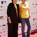 Elizabeth Edwards and Maura Tierney on the red carpet at the 2010 Stand Up To Cancer Show.