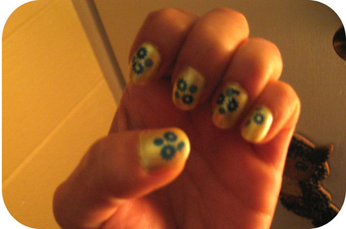 second attempt at Konad nail art; sally hansen hd