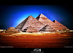 Egypt.. pyramids (K.A photography) Tags: world still ancient bc egypt kingdom upper cairo seven egyptian pharaoh civilization pyramids lower khaled giza gypten hdr egitto wonders hieroglyphs egypte existence bce  constructed  2630 msr  mywinners anawesomeshot    bce2611