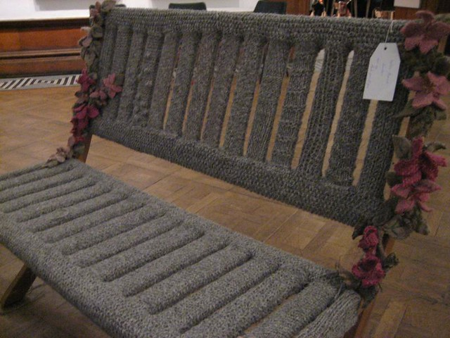 Knitted bench