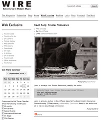 Wire online David Toop article