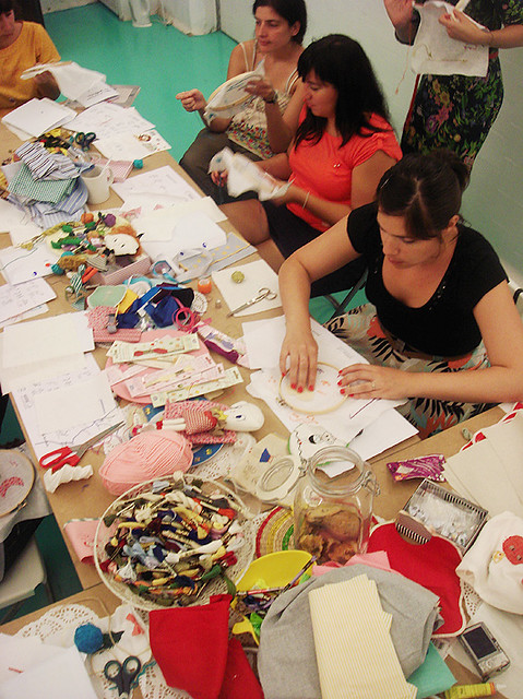 Taller bordado / Embroidery workshop at Duduá